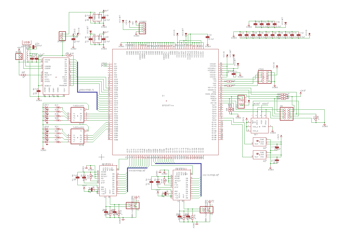 FPGA Dual DAC Board for QAM Synthesis - Jack's Projects and Notes